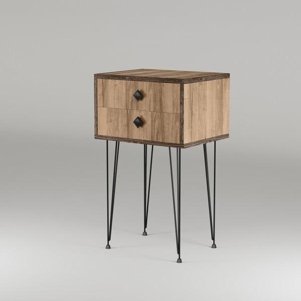 Příruční stolek v přírodním dekoru Melinos