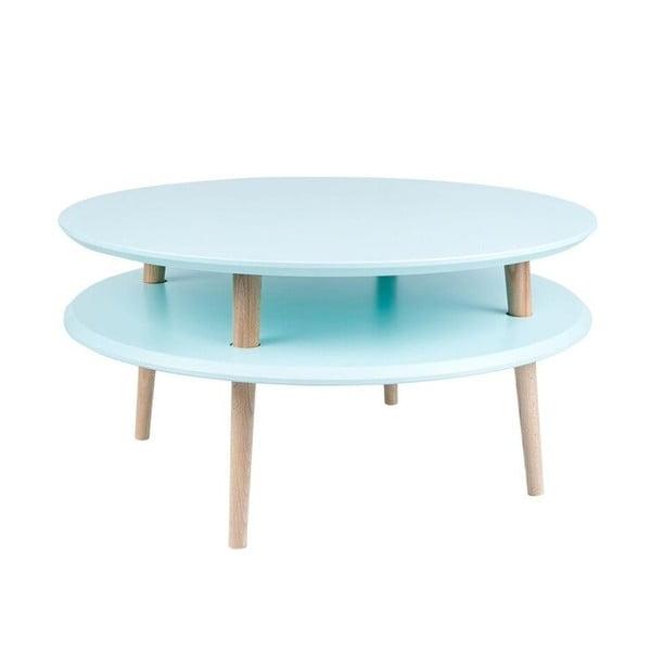 Světle tyrkysový konferenční stolek Ragaba UFO,Ø70cm