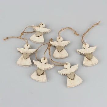 Set 6 decorațiuni suspendate în formă de înger Dakls Edward imagine