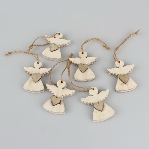 Sada 6 závěsných vánočních dekorací ve tvaru anděla Dakls Edward