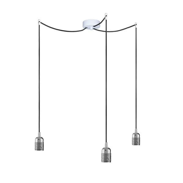 Tři závěsné kabely Uno, stříbrná/černá/bílá
