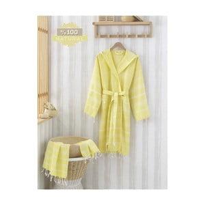 Set županu a ručníku Sultan Yellow, vel. L/XL