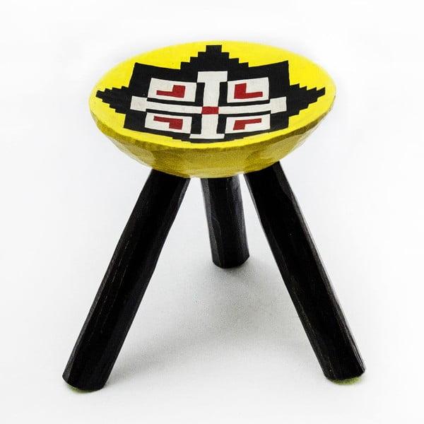 Ručně malovaná stolička Luna, 28 cm