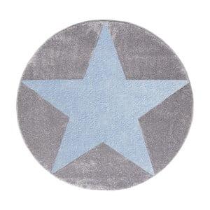 Covor pentru copii Happy Rugs Round, Ø 160 cm, gri - albastru