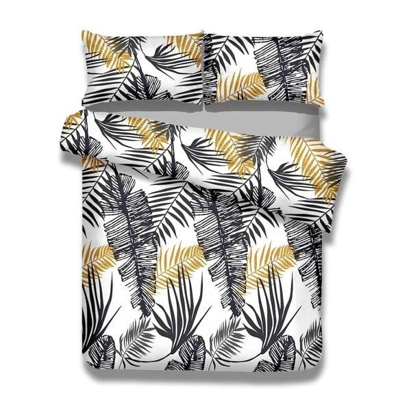 Sada bavlnenej obliečky na perinu a 2 obliečok na vankúše AmeliaHome Averi Fern, 200×220 cm + 50×75 cm