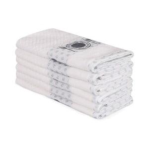 Sada 6 béžových bavlněných ručníků Beyaz Carrie, 30 x 50 cm
