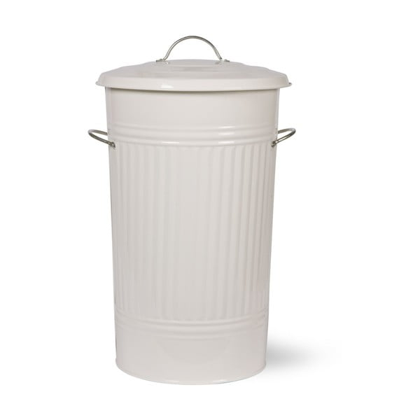 Bílý odpadkový koš Garden Trading Bin in Kitchen, 46 l