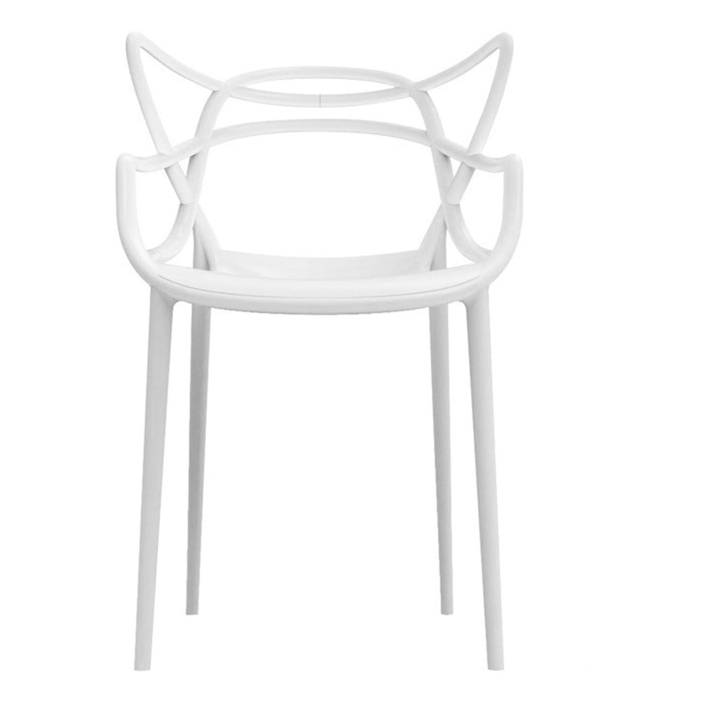 Bílá jídelní židle Kartell Masters