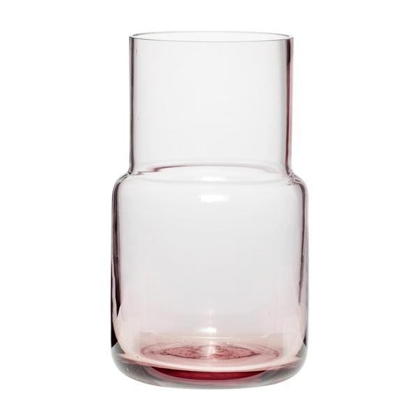 Růžová skleněná váza Hübsch Alstromeria