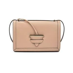 Pudrově růžová kožená kabelka Renata Corsi Brisa