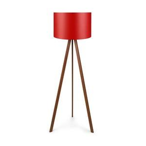 Volně stojící lampa s červeným stínidlem Lamo