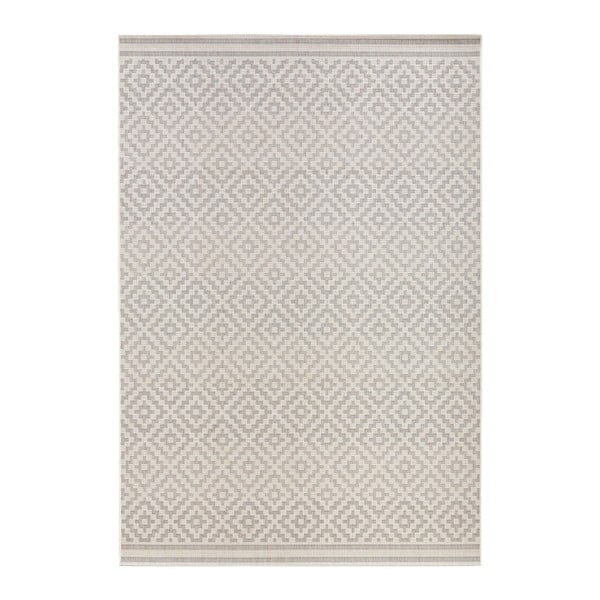 Meadow szürke-krémszínű kültérre is alkalmas szőnyeg, 80 x 150 cm - Bougari