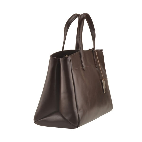 Kožená kabelka Emilio Masi Propus, tmavě hnědá