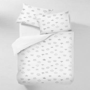 Lenjerie din bumbac cu cearceaf pentru pat dublu COSAS Mugna Puro 200 x 220 cm