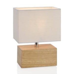 Dřevěná lampa Cedr, bílá