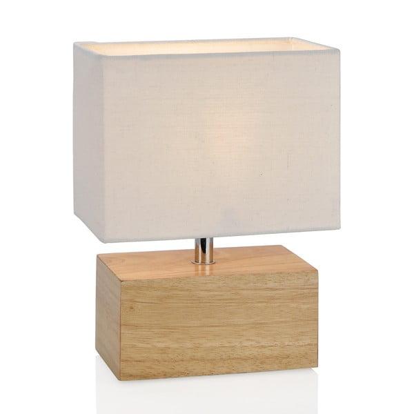 Dřevěná stolní lampa Square