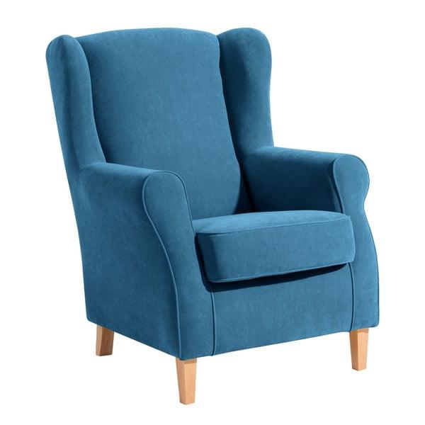 Niebieski fotel Max Winzer Lorris