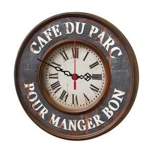 Nástěnné hodiny Cafe Du Parc, 30 cm