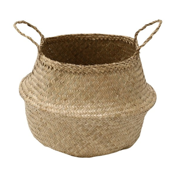 Jasny koszyk z trawy morskiej Compactor, ⌀ 27 cm