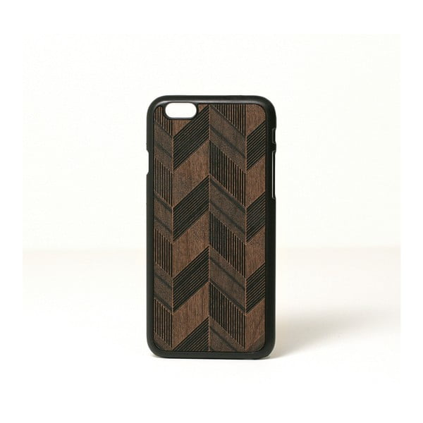 Dřevěný kryt na iPhone 6, Chevron design