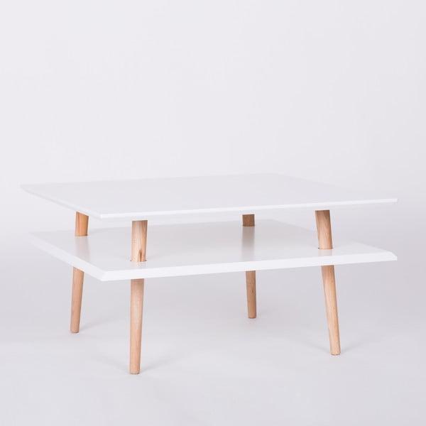 Bílý konferenční stolek Ragaba Square, 68x68cm