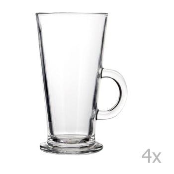 Set 4 pahare pentru latte Premier Housewares, 250ml