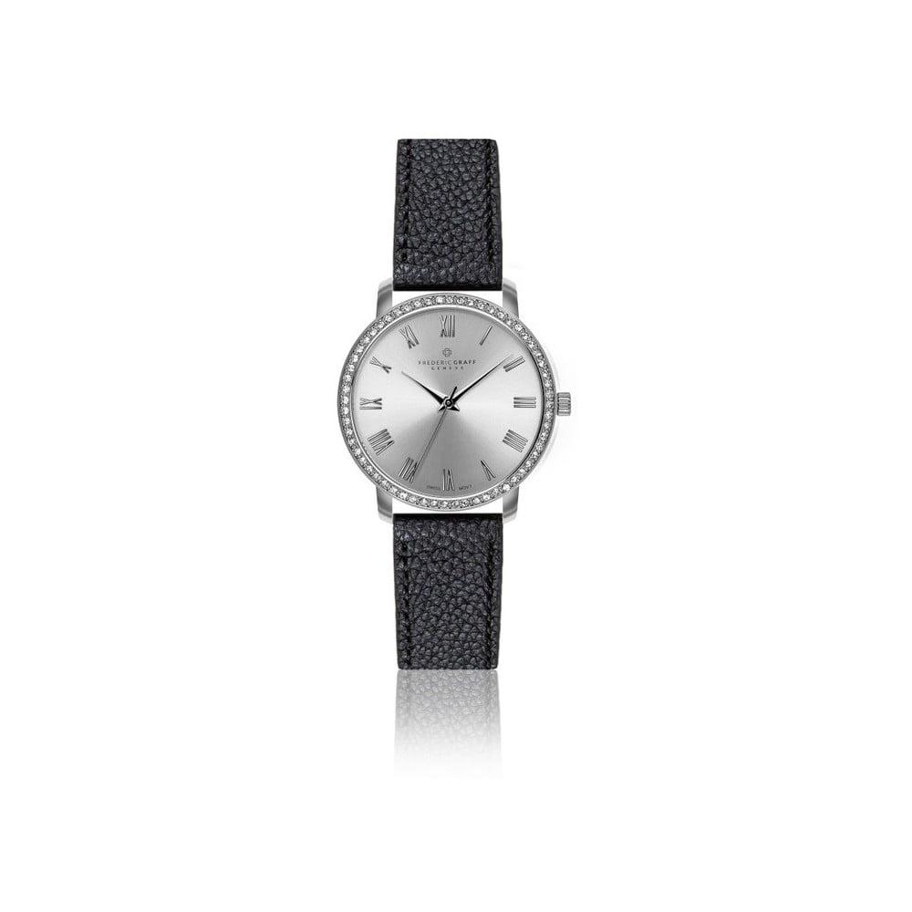 0941dbfc2 Dámské hodinky s černým páskem z pravé kůže Frederic Graff Lychee ...