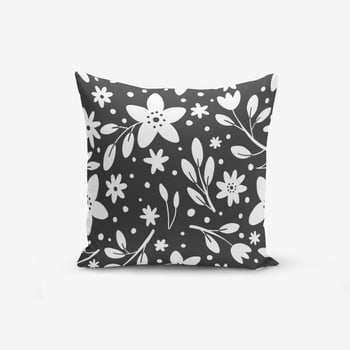 Față de pernă cu amestec din bumbac Minimalist Cushion Covers Fume Background Flower Modern, 45 x 45 cm de la Minimalist Cushion Covers