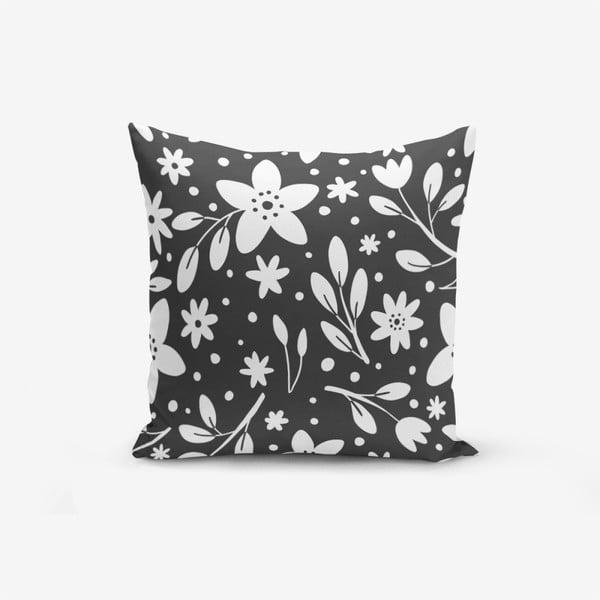 Fume Background Flower Modern pamutkeverék párnahuzat, 45 x 45 cm - Minimalist Cushion Covers