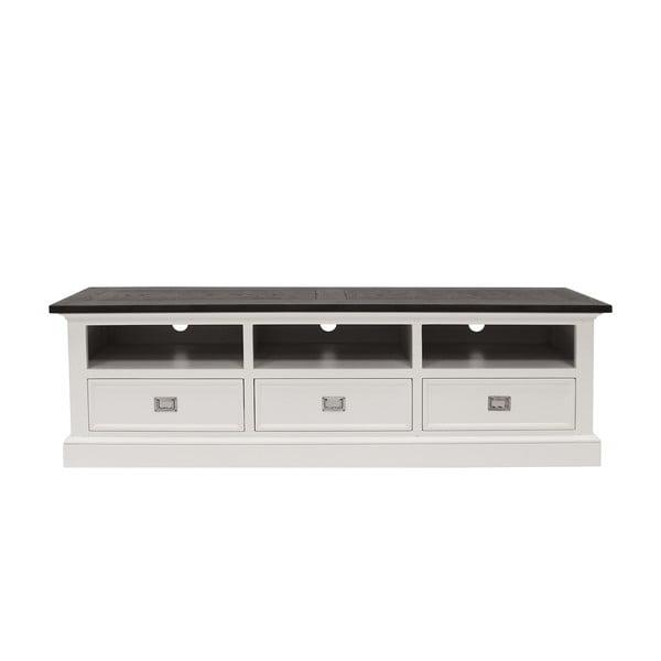 Bílý televizní stolek Canett Skagen TV Unit, 3 zásuvky