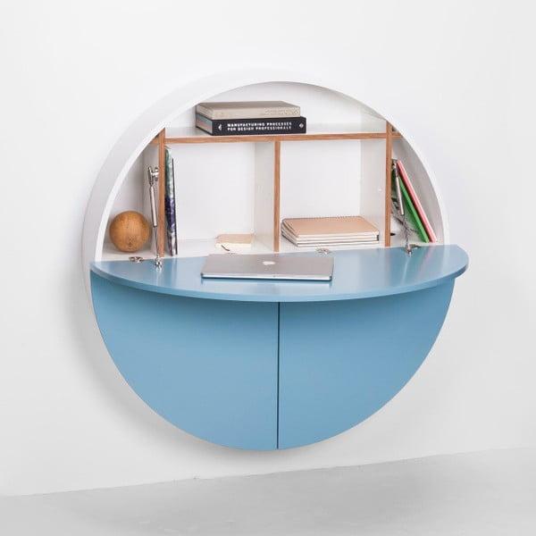 Pill kék-fehér többfunkciós fali asztal - EMKO