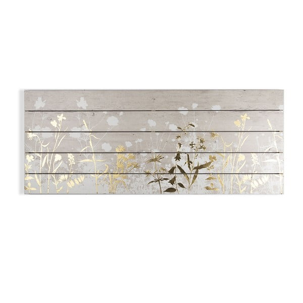 Drewniany obraz Graham & Brown Metallix Wood Meadow, 100x40 cm