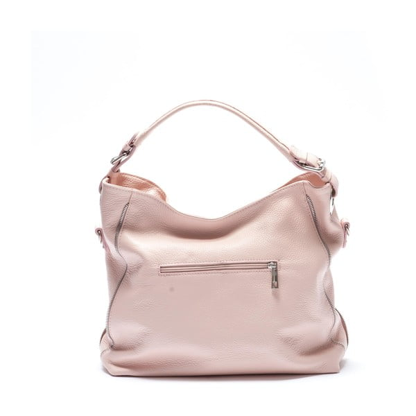 Kožená kabelka Mangotti 1139, růžová