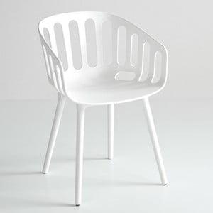 Bílá židle Basket