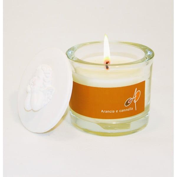Aromatická svíčka THD Fragnances, pomeranč se skořicí