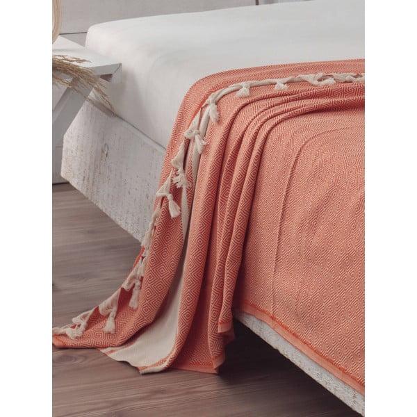 Přehoz přes postel Elmas Orange, 200x240 cm