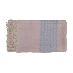 Růžová ručně tkaná osuška z prémiové bavlny Homemania Oasa Hammam,100x180 cm