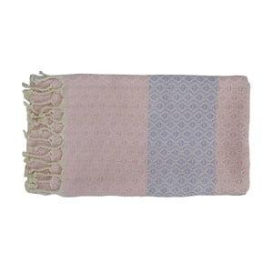Prosop țesut manual din bumbac premium Oasa, 100 x 80 cm, roz