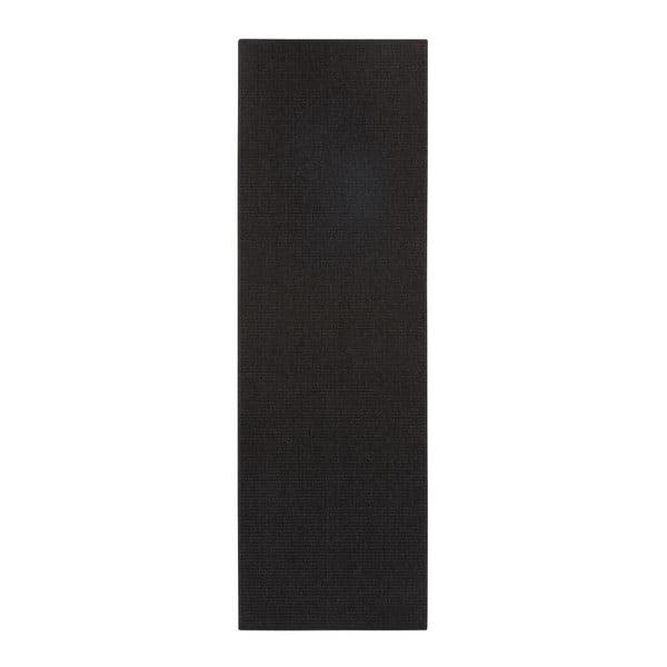 Černý běhoun BT Carpet Nature, 80 x 250 cm