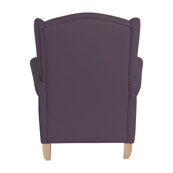 Fialové křeslo ušák Max Winzer Verita Leather Violet