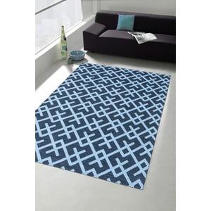 Vysoce odolný kuchyňský koberec Webtappeti Labyrinth Blue, 60x220 cm