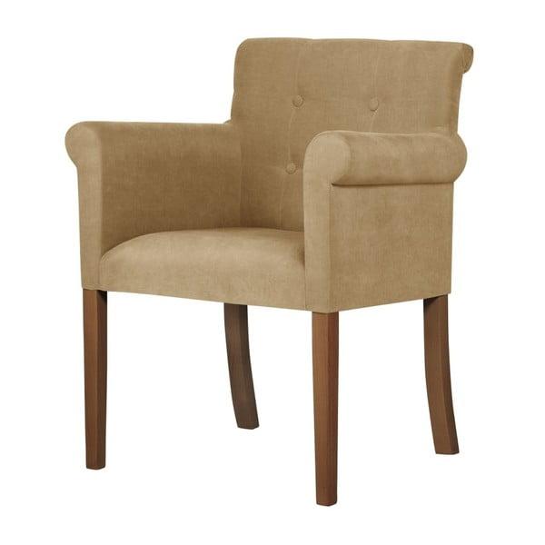 Flacon bézs bükkfa szék sötétbarna lábakkal - Ted Lapidus Maison
