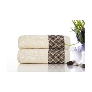 Sada 2ks ručníků Bamboo Polo Ecru, 50x90 cm