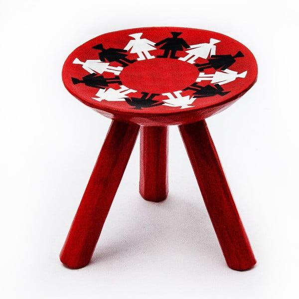Ručně malovaná stolička Mandra, 28 cm
