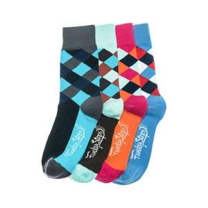 Sada 4 párů ponožek Funky Steps Pongo, univerzální velikost