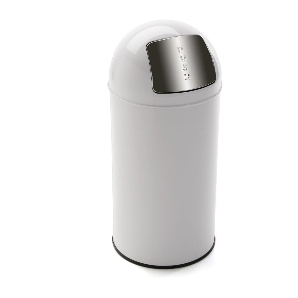 Bílý odpadkový koš Versa Whiteno, 35 l