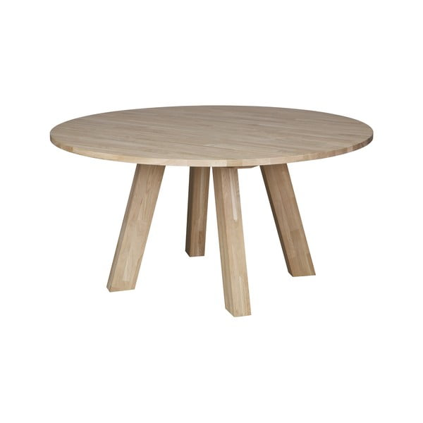 Masă dining din lemn de stejar WOOOD Rhonda, ⌀ 150 cm