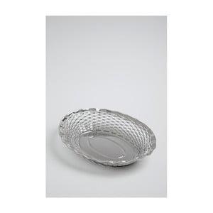 Oválný košík na pečivo z nerezové oceli Steel Function, 30x24 cm