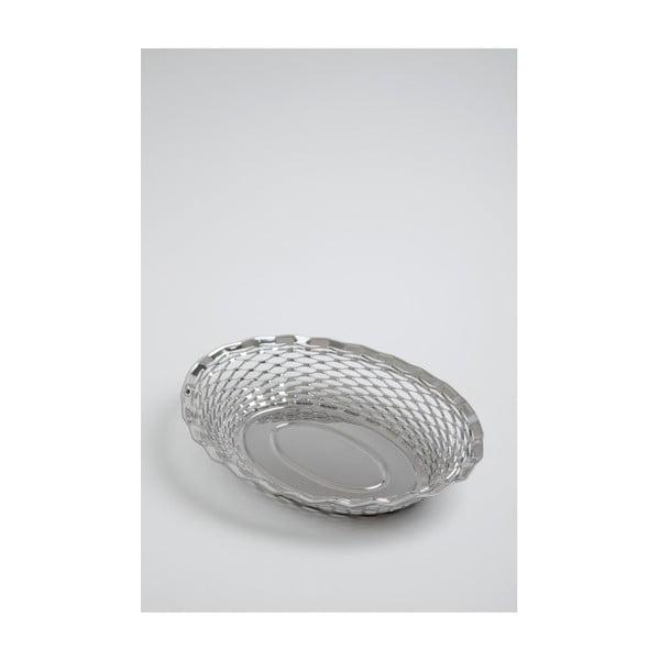 Coș din oțel inoxidabil pentru pâine oval Steel Function, 30x24 cm