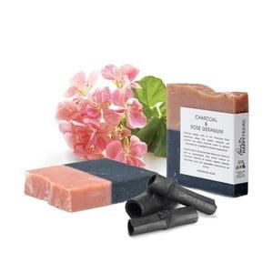 Přírodní mýdlo s aktivním uhlím a vůní růže HF Living